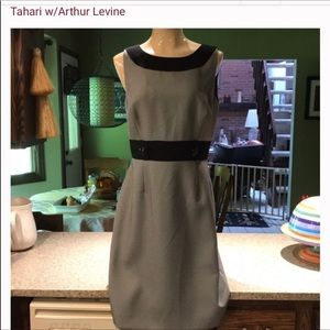 Tahari Arthur Levine sleeveless dress